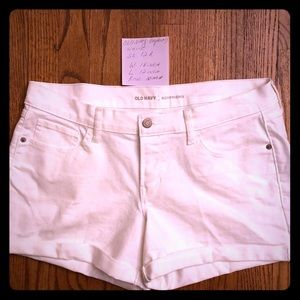 Boyfriend Style Old Navy White Shorts Sz 12R